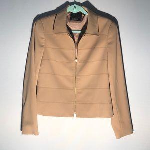 NWOT Carlisle Tan Zip Up Blazer A22